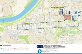 Схема объезда улиц на время велопарада