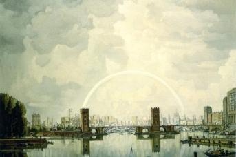 Константин Богаевский. Город будущего. 1932