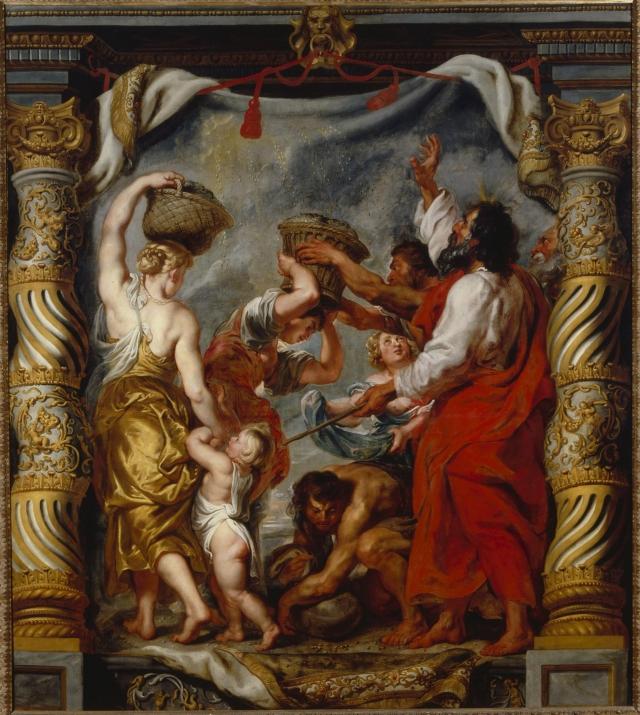 Питер Пауль Рубенс. Сбор манны израильтянами (ок.1625)