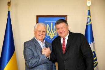 Леонид Кравчук и Арсен Аваков. 2018. Mvs.gov.ua
