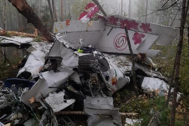 L-410 uçağının enkazı