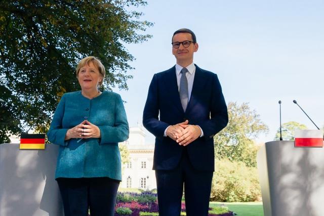 Встреча Ангелы Меркель с Матеушем Моравецким. 11 сентября 2021 года, Варшава. Gov.pl