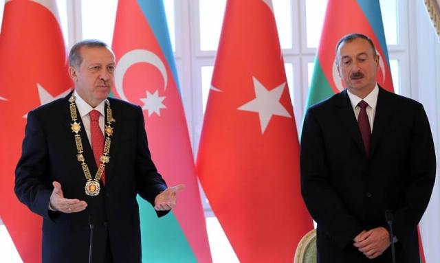 Реждеп Эрдоган и Ильхам Алиев