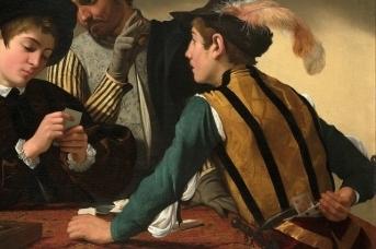 Микеланджело Меризи да Караваджо. Игроки в карты (Шулеры). 1594