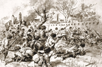 Русские атакуют японцев под Мукденом,