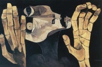Освальдо Гуаясамин. Крик. 1983