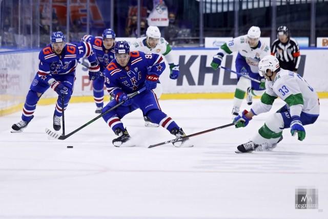 Матч чемпионата КХЛ между командами СКА  и «Салават Юлаев»