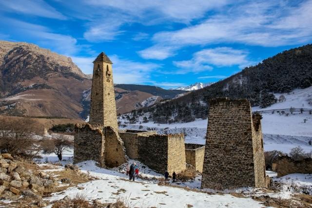Комплекс башен Эгикал в Джейрахском районе Ингушетии