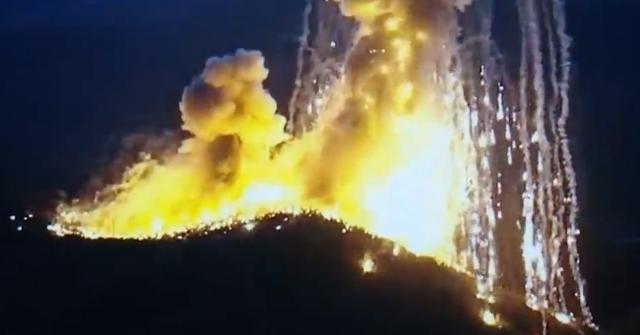 Пожар, вызванный применением белого фосфора в Нагорном Карабахе