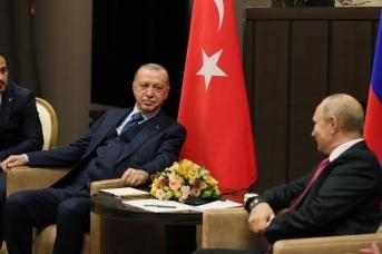 Президент Турции Реджеп Тайип Эрдоган и президент России Владимир Путин на встрече в Сочи. Tccb.gov.tr