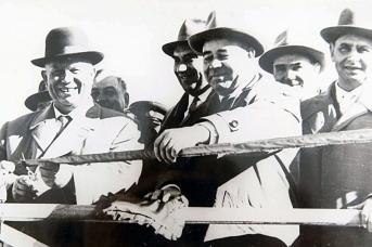 Никита Хрущёв и Пётр Шелест на открытии Северо-Крымского канала в октябре 1963 года