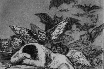 Франсиско Гойя. Сон разума рождает чудовищ. 1797