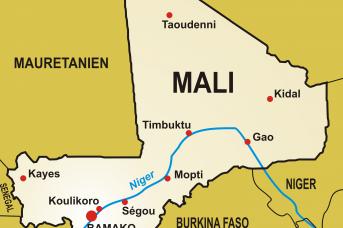 Карта Мали
