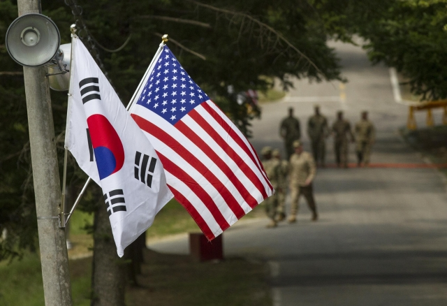 Флаги США и Южной Кореи. U.S. Army