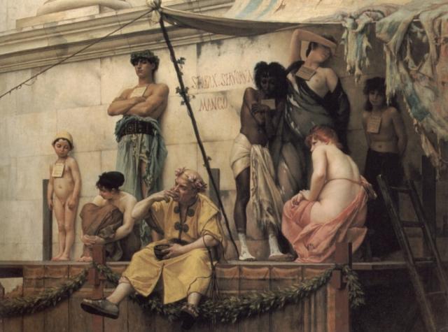 Густав Буланже. Рынок рабов. XIX век