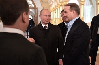 Встреча Владимира Путина с Виктором Медведчуком (справа)