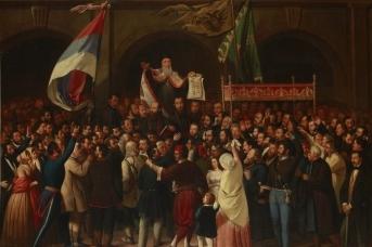 Картина Павла Симича «Провозглашение Сербской Воеводины»,