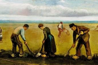 Ван Гог. Крестьяне сажающие картофель (фрагмент)