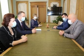 Игорь Артамонов встретился с новым главой липецкого отделения Банка России