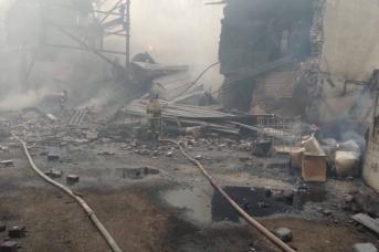 Пожар на пороховом заводе под Рязанью