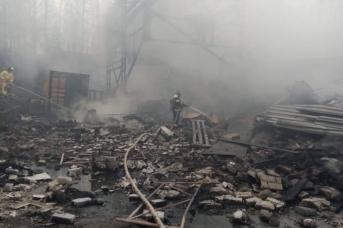 Пожар на заводе под Рязанью