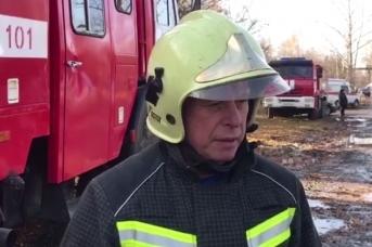 Александр Чуприян на месте пожара под Рязанью