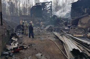 На месте пожара порохового завода под Рязанью