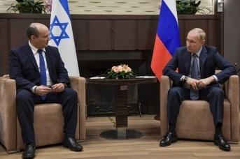 Президент России Владимир Путин и премьер-министр Израиля Нафтали Беннет