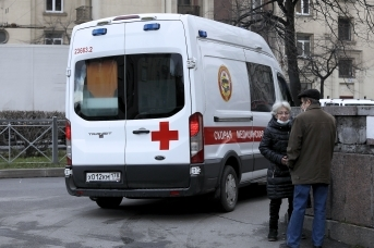 Машина скорой помощи в Петербурге
