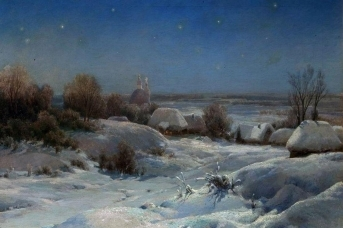 Иван Вельц. Украинская ночь. Зима. 1898